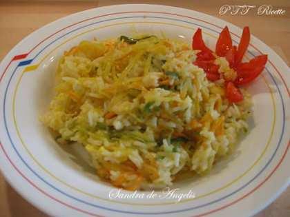 Riso basmati con verdurine e salsa di agrumi