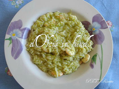 Risotto con asparagi e gamberi
