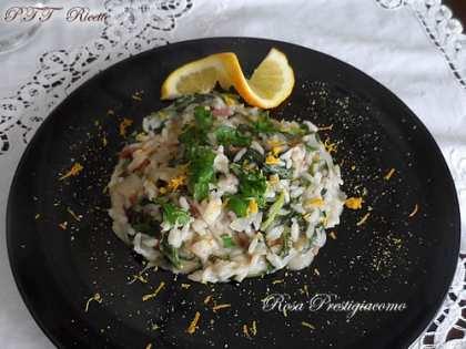 Risotto rucola, radicchio, speck e gorgonzola
