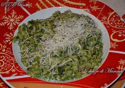 Risotto saporito agli spinaci