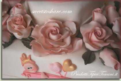 Rose di marzapane