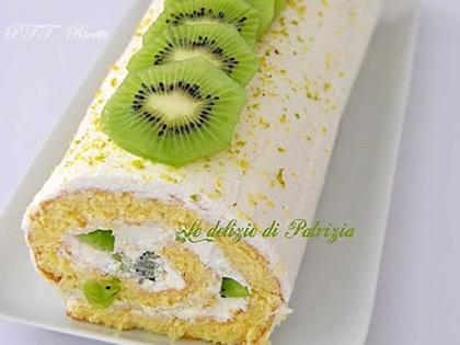 Rotolo con mousse al formaggio e kiwi
