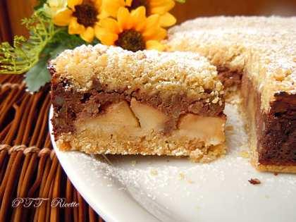 Sbriciolata con mele e crema al cioccolato