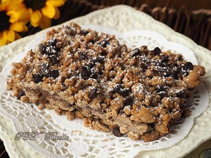 Sbriciolata di castagne e cioccolato senza glutine
