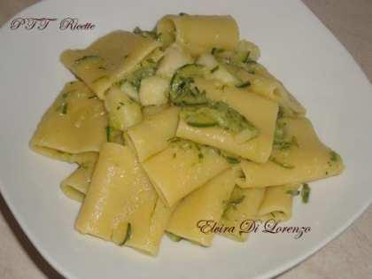 Schiaffoni con zucchine e cernia
