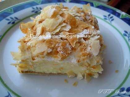 Sfoglia con crema alla vaniglia