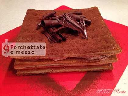 Sfoglia con crema di ricotta e cioccolato