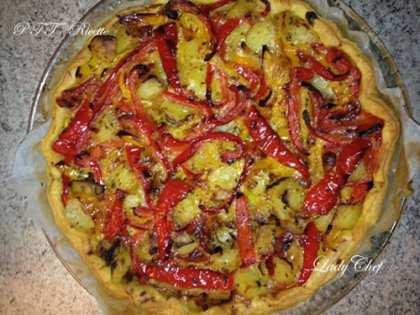 Sfoglia con peperoni e patate