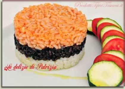 Sformatino di riso tricolore