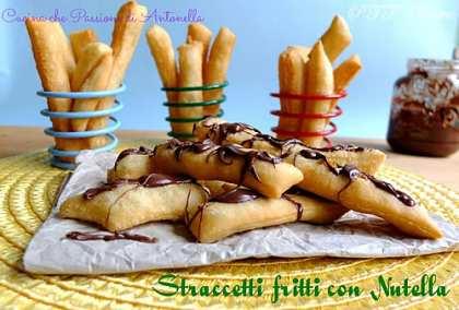 Straccetti fritti con Nutella
