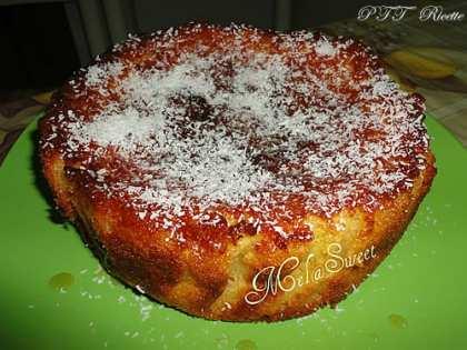 Torta agadir, con cocco e yogurt alla vaniglia