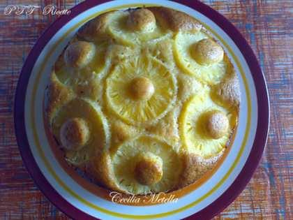 Torta all'ananas senza burro