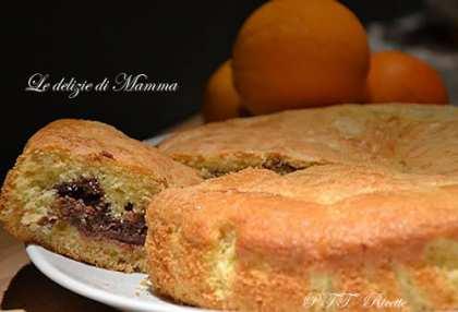 Torta all'arancia con crema di ricotta al cioccolato