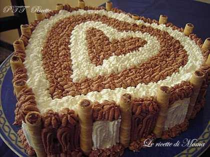 Torta all'arancia con panna e ganache alla Nutella