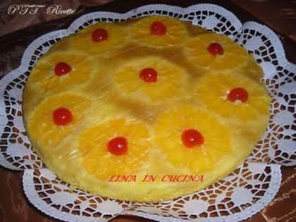 Torta all'arancia rovesciata