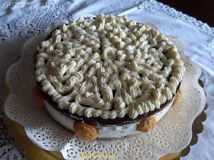 Torta cheesecake con ganache al cioccolato