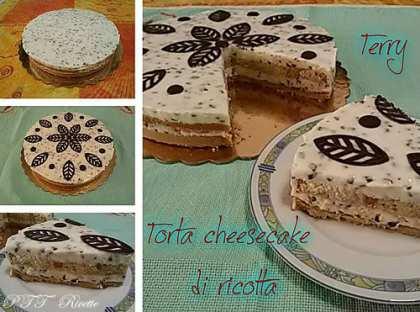 Torta cheesecake di ricotta