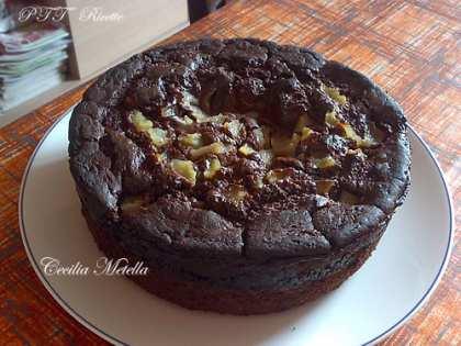 Torta cioccopere, cioccolato e pere