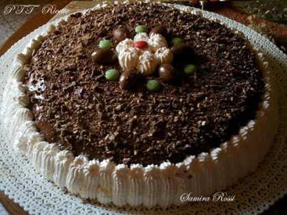 Torta con crema al cacao