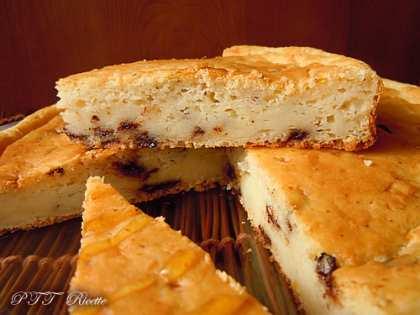 Torta con kefir, ricotta e cioccolato