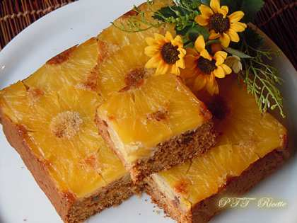 Torta di ananas e cocco, senza olio e senza burro