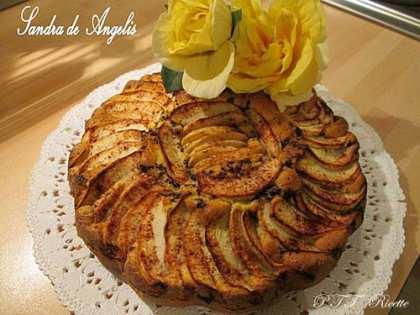 Torta di mele con cioccolato