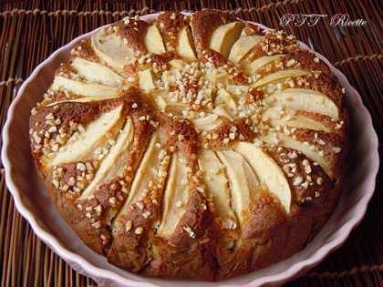 Torta di mele con ricotta, dolce senza burro e senza olio