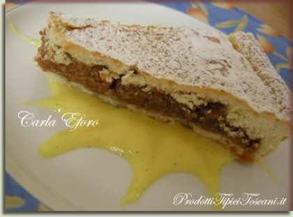 Torta di noci e miele con salsa di vaniglia