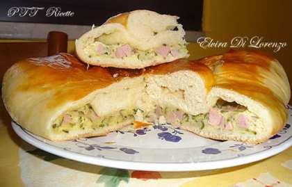Torta di pan brioche ripiena