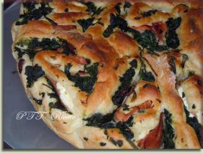 Torta di rose salata con spinaci