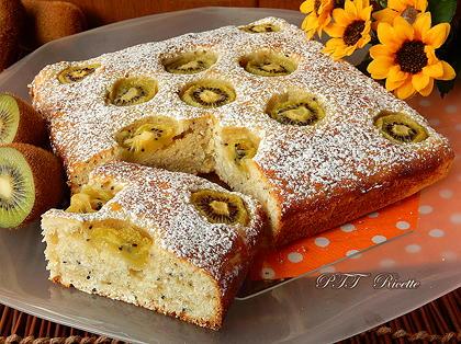 Torta dietetica ai kiwi