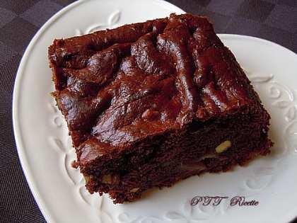 Torta dietetica al cacao, pere e noci