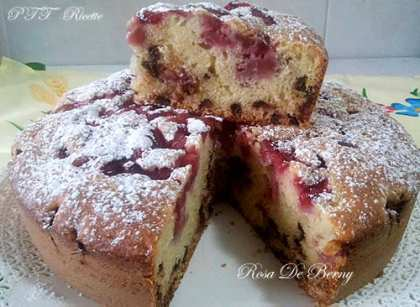 Torta fragole e cioccolato