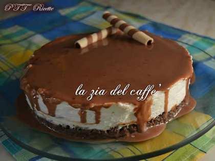 Torta fredda panna e cioccolato