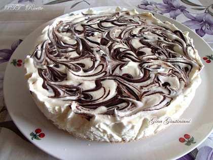 Torta fredda variegata alla Nutella