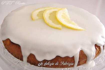 Torta glassata con miele e limone