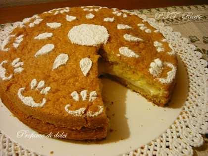 Torta margherita alla crema pasticcera