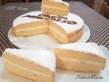Torta paradiso con crema delicata