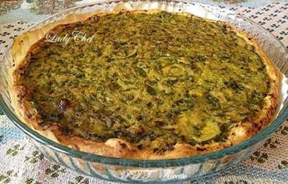Torta salata con zucchine e taleggio