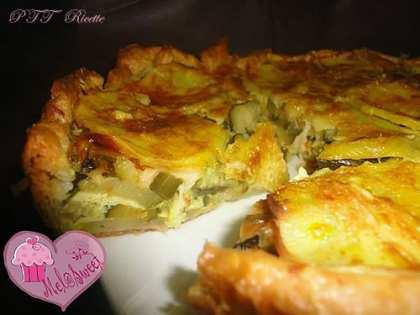 Torta salata con zucchine, Galbanino e patate