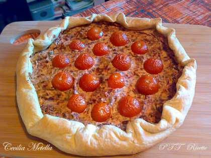 Torta salata pomodori secchi e ricotta