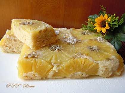 Torta senza lattosio all'ananas