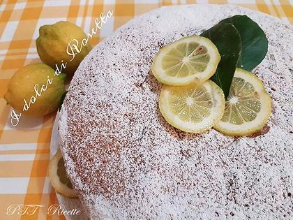 Torta soffice aromatizzata al limone