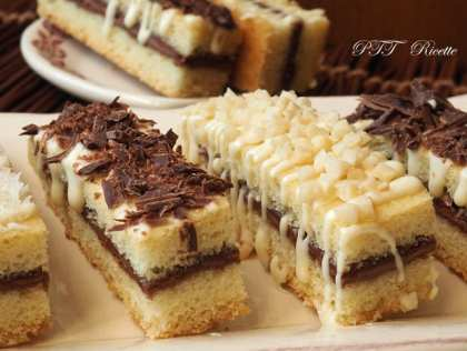 Tranci di pasta frolla con cioccolato