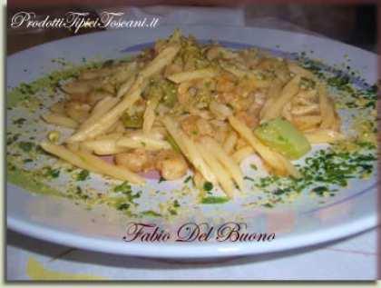 Trofie con gamberetti, zucchine e pistacchio di Bronte