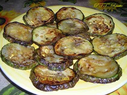 Zucchine tonde fritte