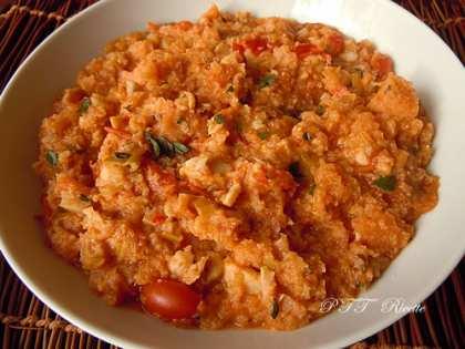 Zuppa con merluzzo e pomodorini